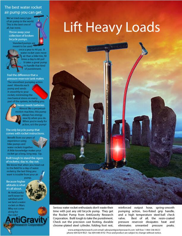 RocketPump for Air Pressure Rockets / Pop Bottle Rockets / Water Rockets