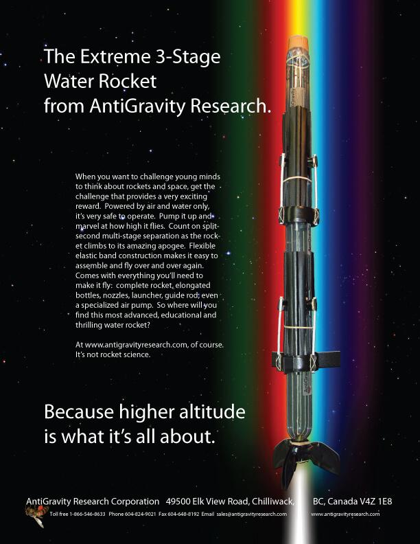 Extreme Three Stage Water Rocket / Pop Bottle Rocket / Air Pressure Rocket