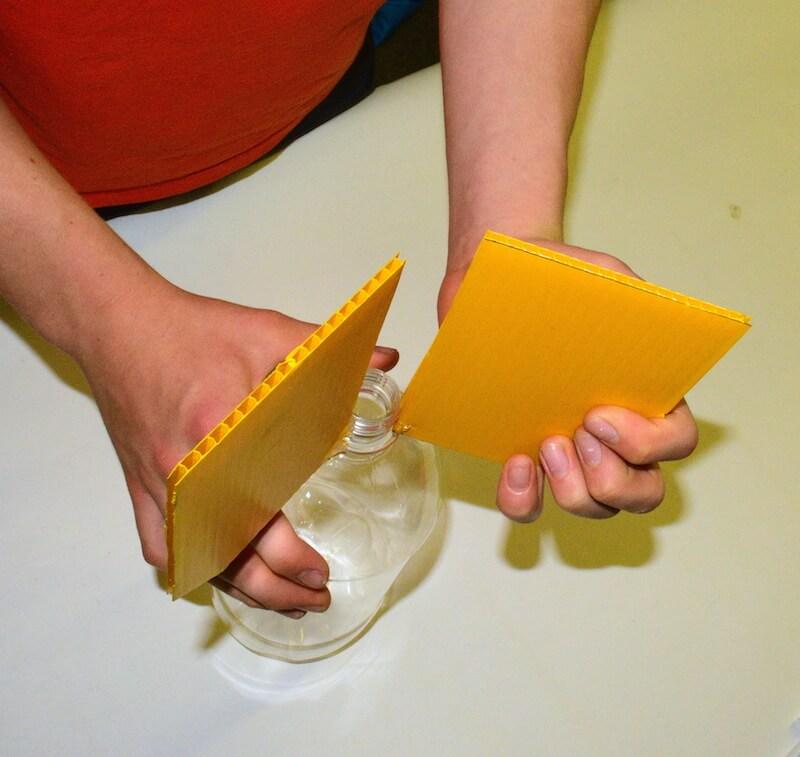 how to make water bottle rocket fins